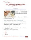 How To Budget Your Finances When Earning Sales Commission