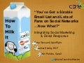 How to Milk It: Integrating Social Marketing & Direct Response