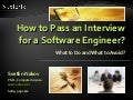 How to Pass an Interview for Software Engineering Job