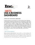 How to use Business Dashboard