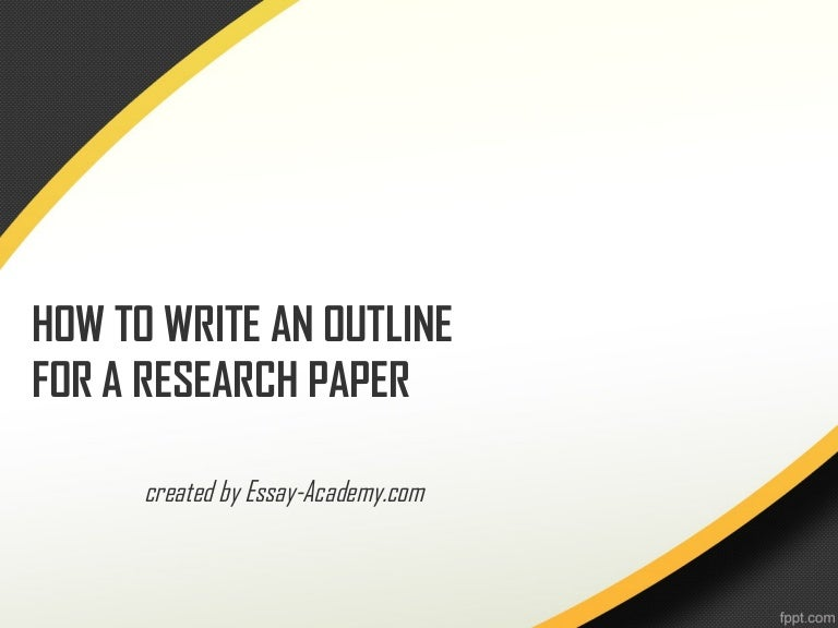 How to do a outline for a research paper