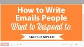 How to Write Emails People WANT to Respond to [Sales Template]