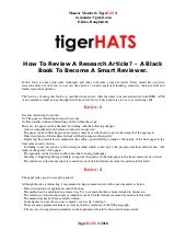 How To Review A Research Article by...