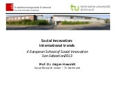 JÜRGEN HOWALDT - Social Innovation....
