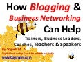 How blogging & business networking can help trainers, business leaders, coaches