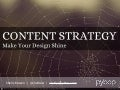 How content strategy can make your design shine
