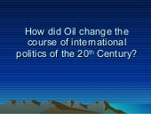 How Does Oil Change Politics