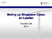 Noting Up Singapore Cases on LawNet