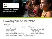 How do you use the web