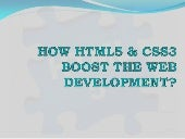 HTML5- The Boosting Era of Web Deve...