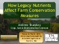 How legacy nutrients affect farm conservation measures