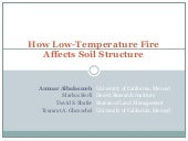 How low temperature fire affects soil structure