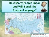 How many people  speak and will spe...