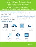 How NetApp IT Maximizes its Storage Assets with OnCommand Insight