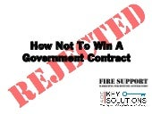 How Not To Win A Government Contract