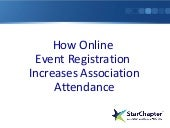 How Online Event Registration Increases Association Attendance