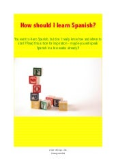 How should i learn spanish