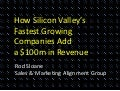 Rod Sloane's prsentation at TechMeetups Masterclass 'How Silicon Valley's Fastest Growing Companies Add a $100m in Revenue'