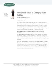 How social media is changing brand ...