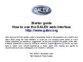 Run your own GALEV model - an intro...