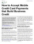 How to Accept Mobile Credit Card Payments that Build Business Credit
