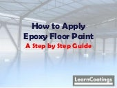 How to apply epoxy floor paint - A step by step guide