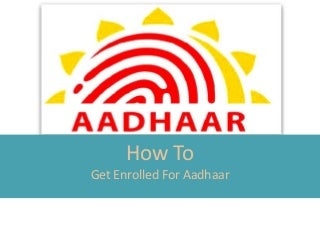 How to apply for Addhar Card