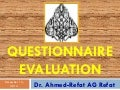 How to assess  questionnaires