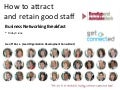 How to attract and retain good staff