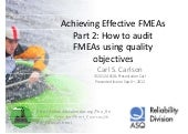 How to audit fme as using quality o...