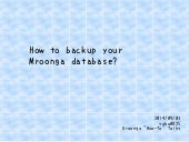 How to backup your mroonga database?