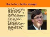 How To Be A Good Manager