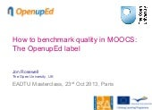 How to benchmark quality in MOOCs  ...