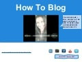 How to Blog imglobal