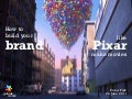 Build your Brand like Pixar make Movies