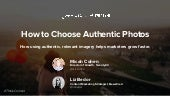 How to Choose Authentic Photos for Content Marketing