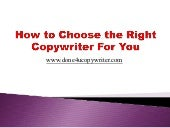 How to Choose the Right Copywriter ...