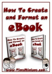 How to create and format an e book