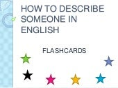 How to describe someone in english