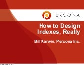 How to Design Indexes, Really
