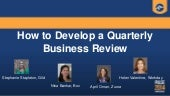 How to Develop a Quarterly Business Review