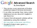 How to do a google advanced search by simon bignell