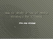 How to draft strategy for social media