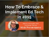 How To Embrace & Implement Ed Tech in 2015