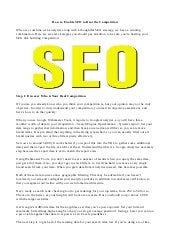 How to enable seo to beat the competition-key difference