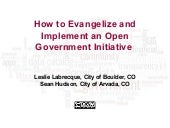 How to Evangelize and Implement an ...