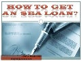 How to  get  an  small business administration loan