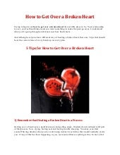 How to get over a broken heart – 5 ...