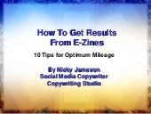 How to Get Results from E-Zines