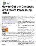How to Get the Cheapest Credit Card Processing Rates